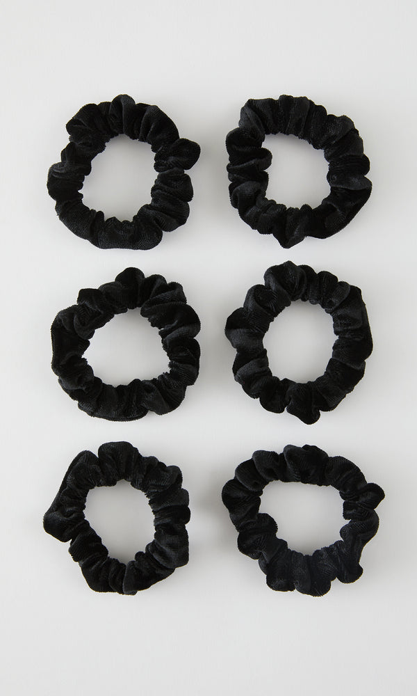6-Pack Small Velvet Scrunchies