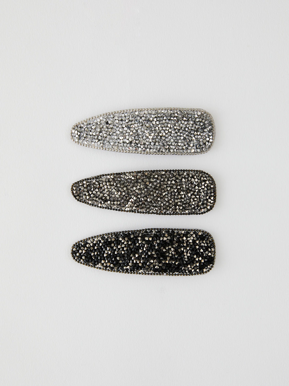3-Pack Diamanté Snap Clips