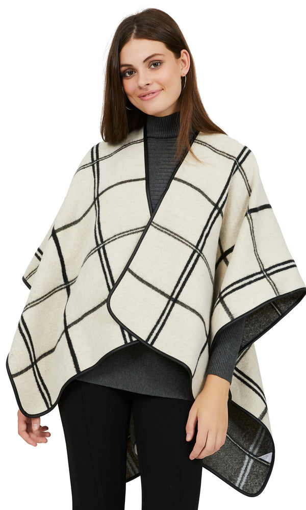 Double Window Pane Reversible Cape