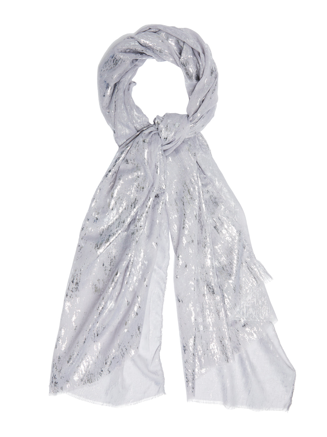 Abstract Foil Scarf With Raw Edges