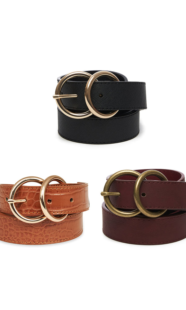 Double Loop Buckle Belt