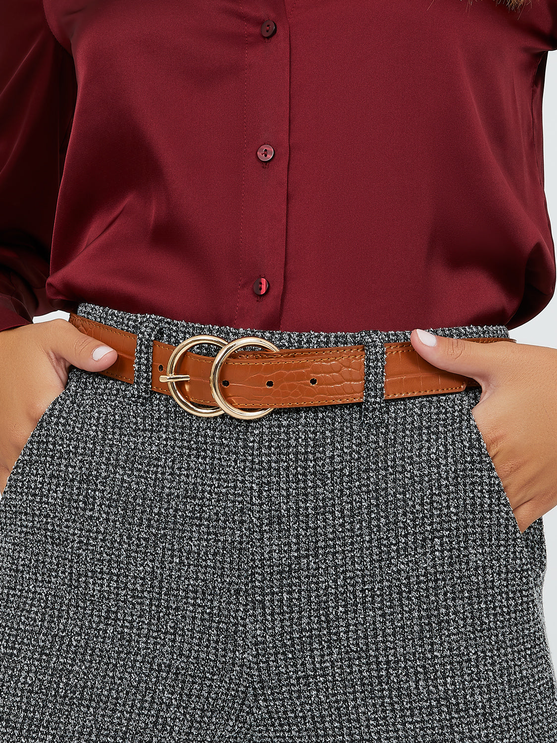 Double-Loop Buckle Belt