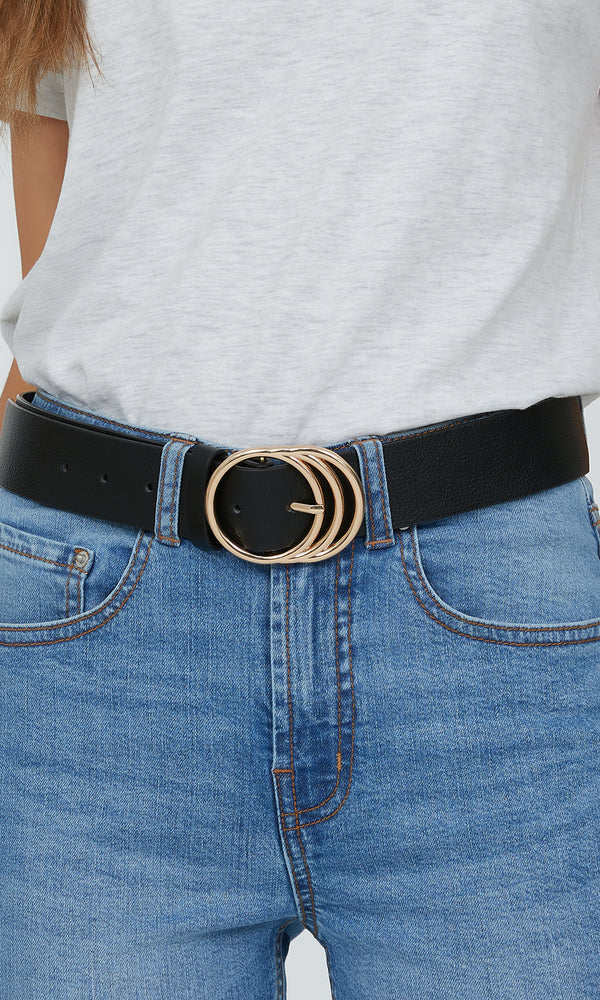 Triple Loop Buckle Belt