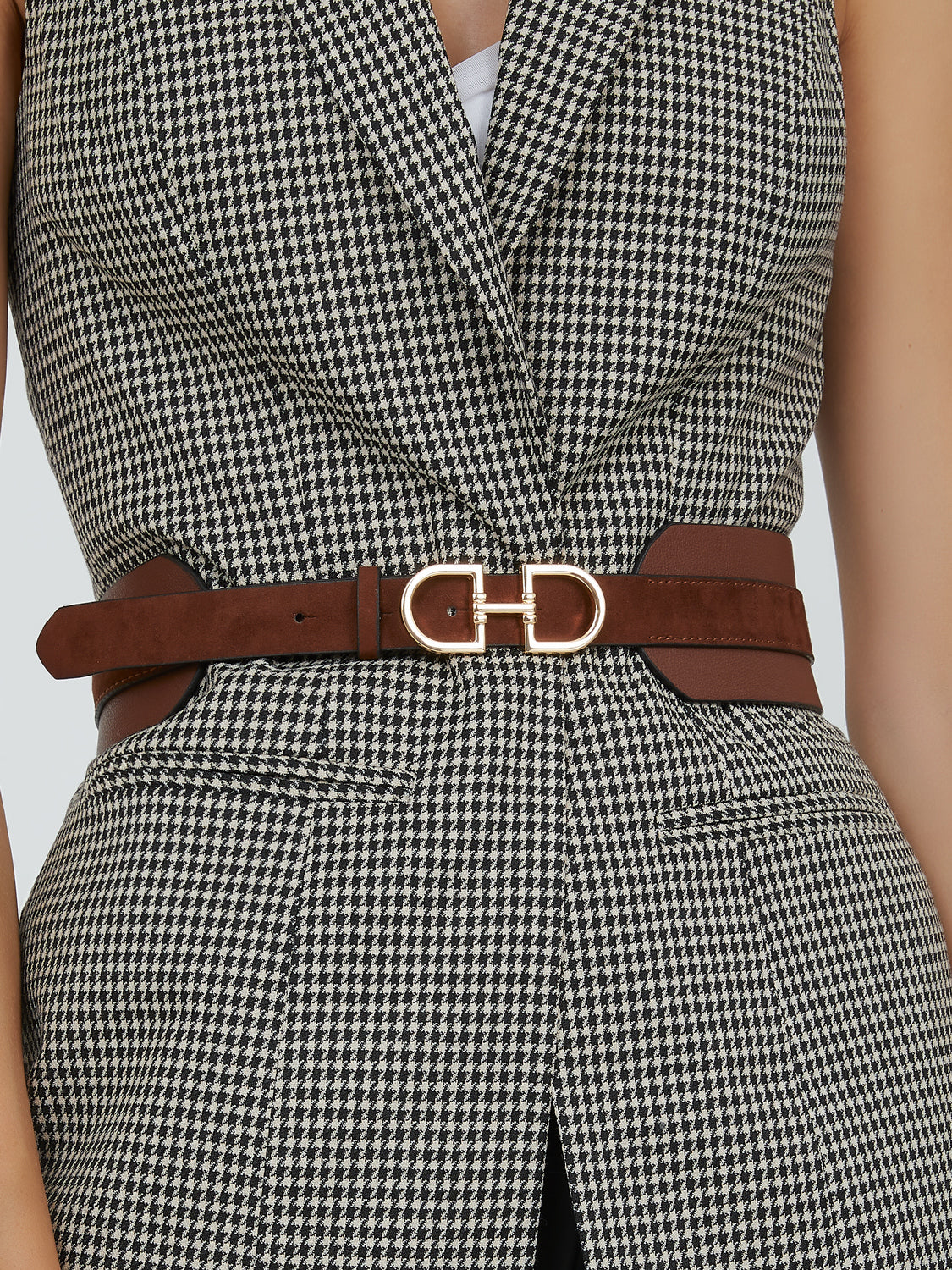 D-Ring Faux Leather Belt