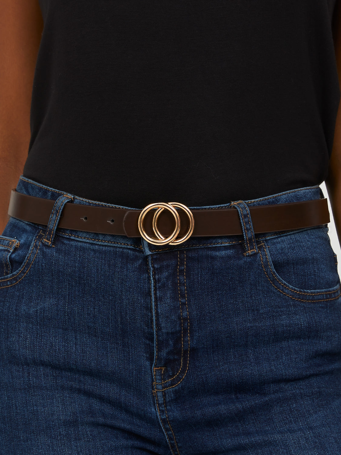 Set of 2 Ring Buckle Belts