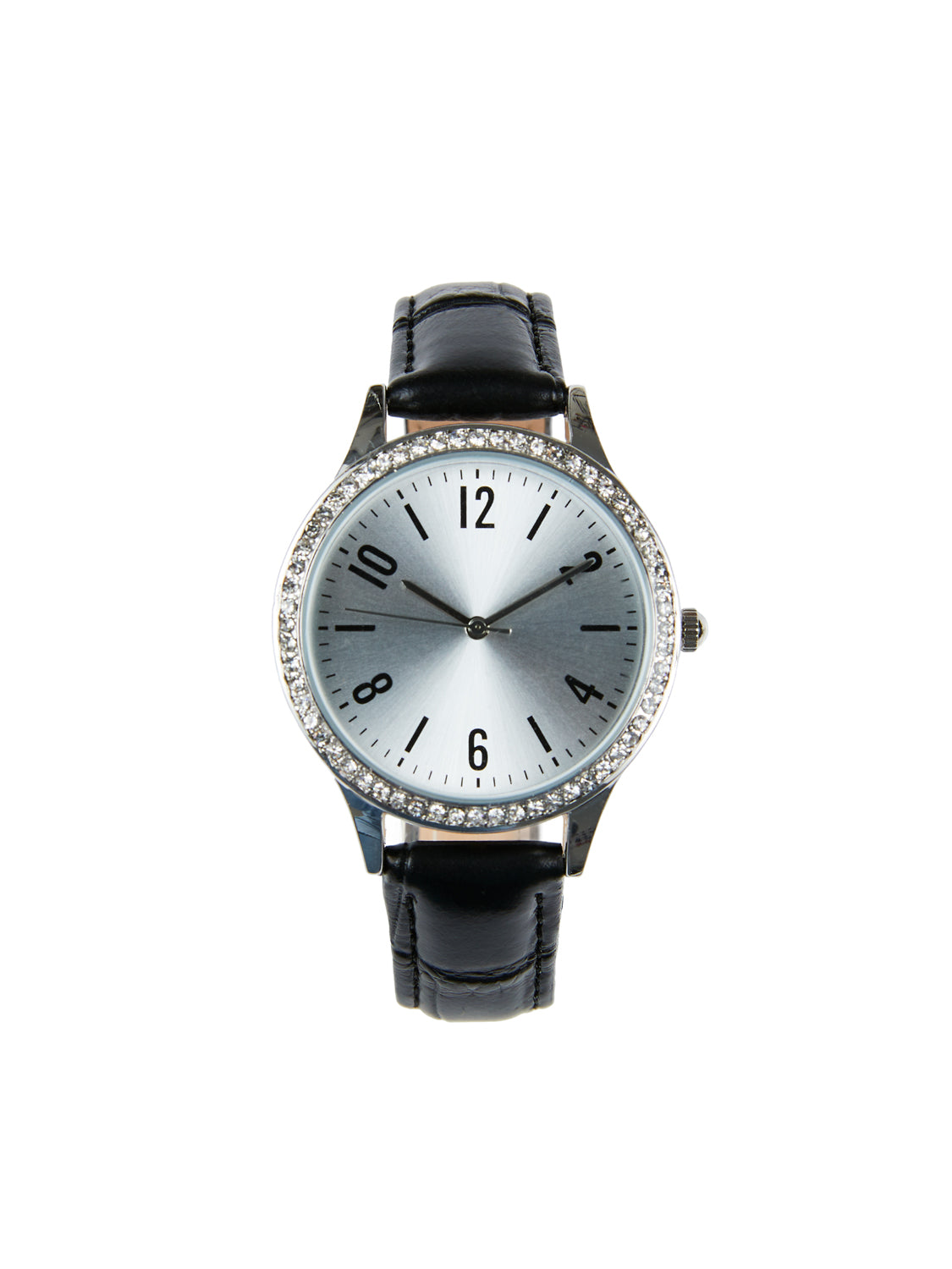 Crocodile Band Gem Dial Women's Watch