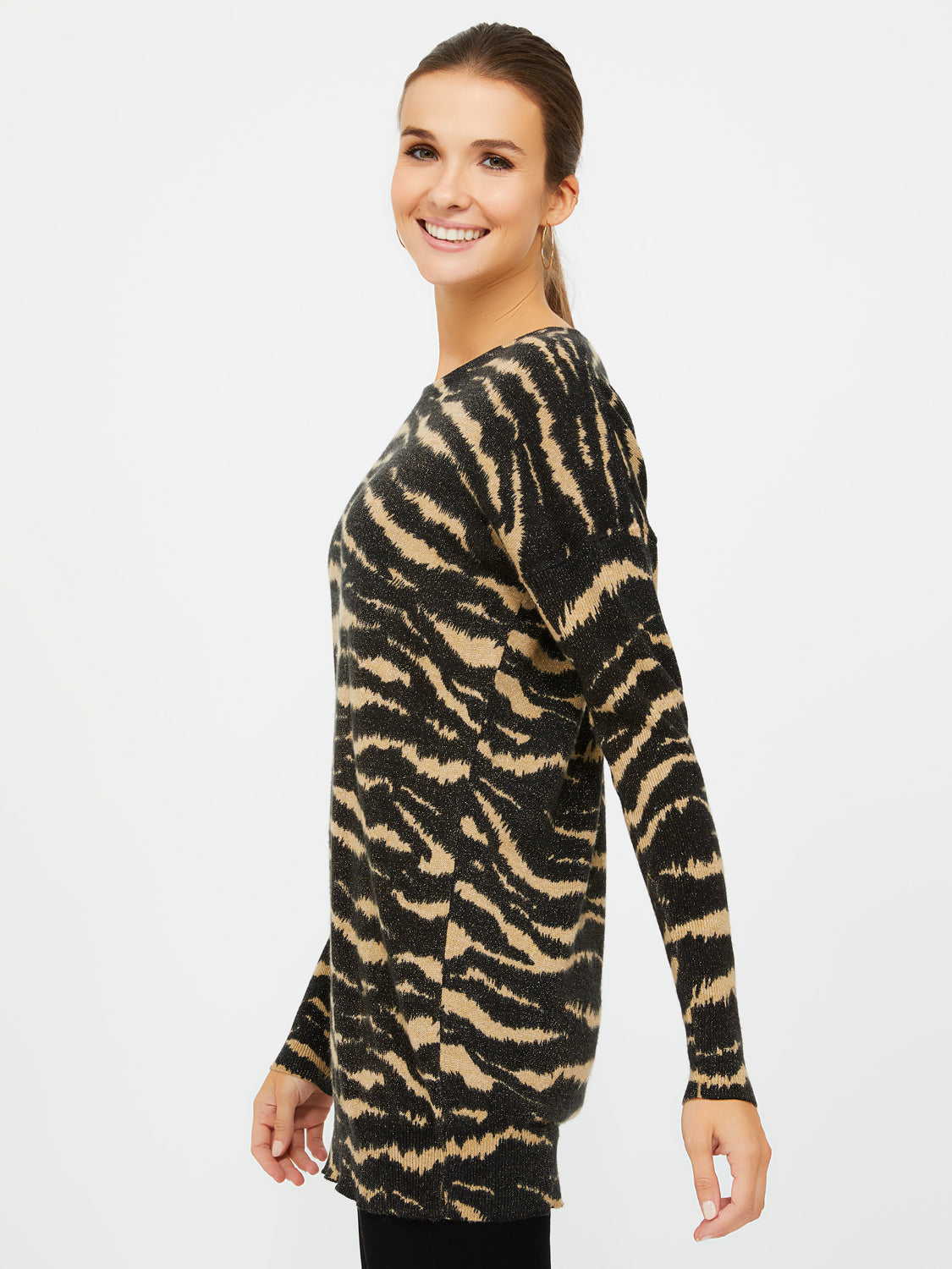 Zebra Metallic Yarn Sweater