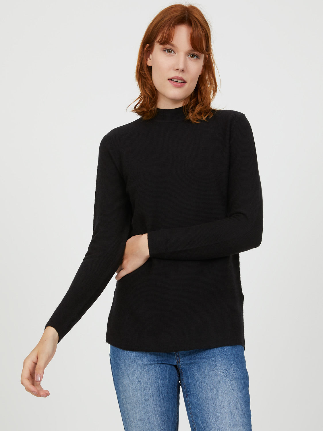 Mini Mock Neck Sweater
