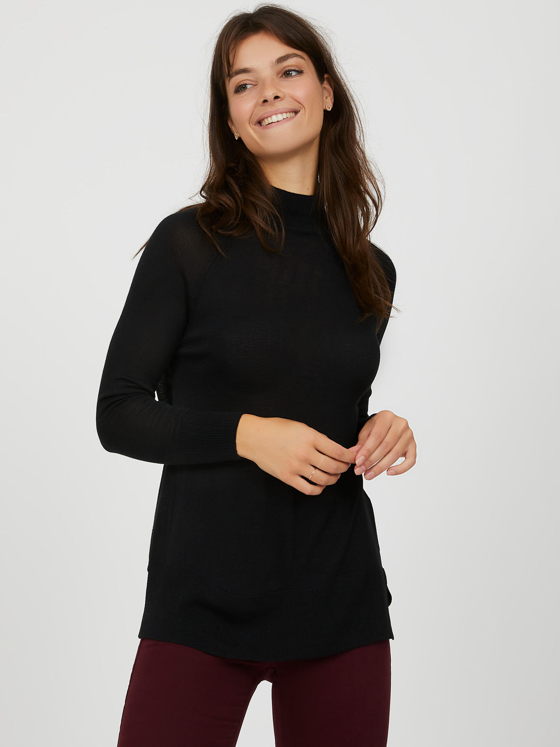 Boxy Mini Mock Top