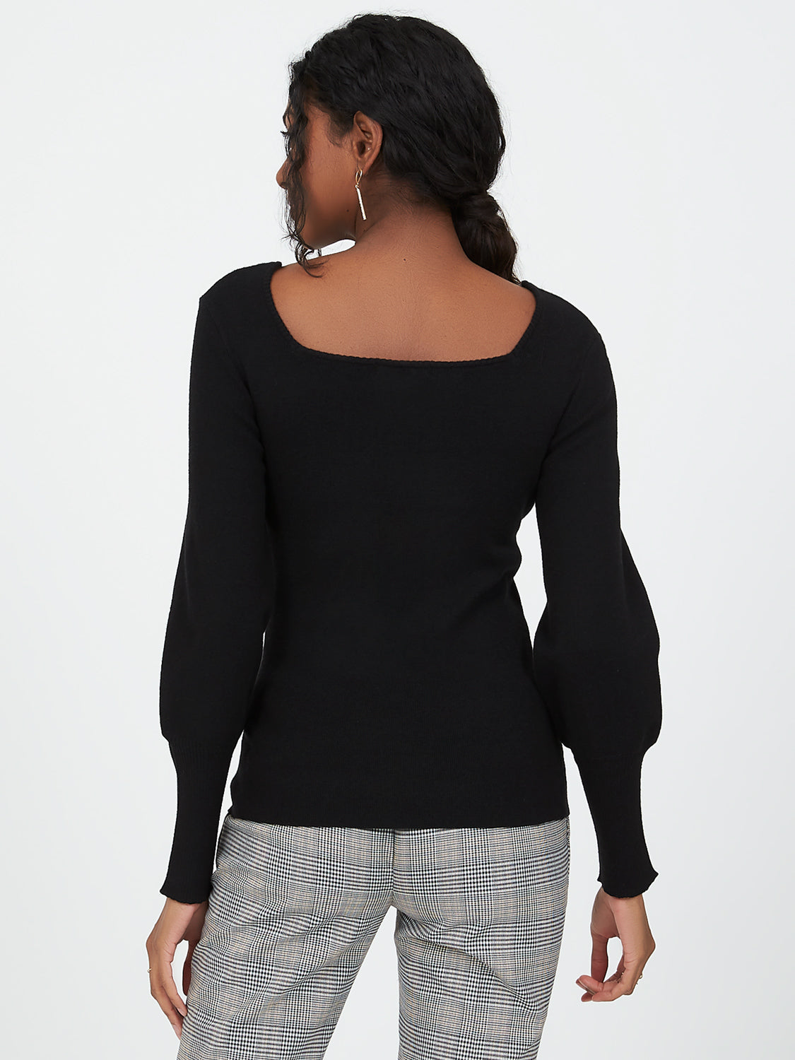 Balloon Sleeve Sweater Top
