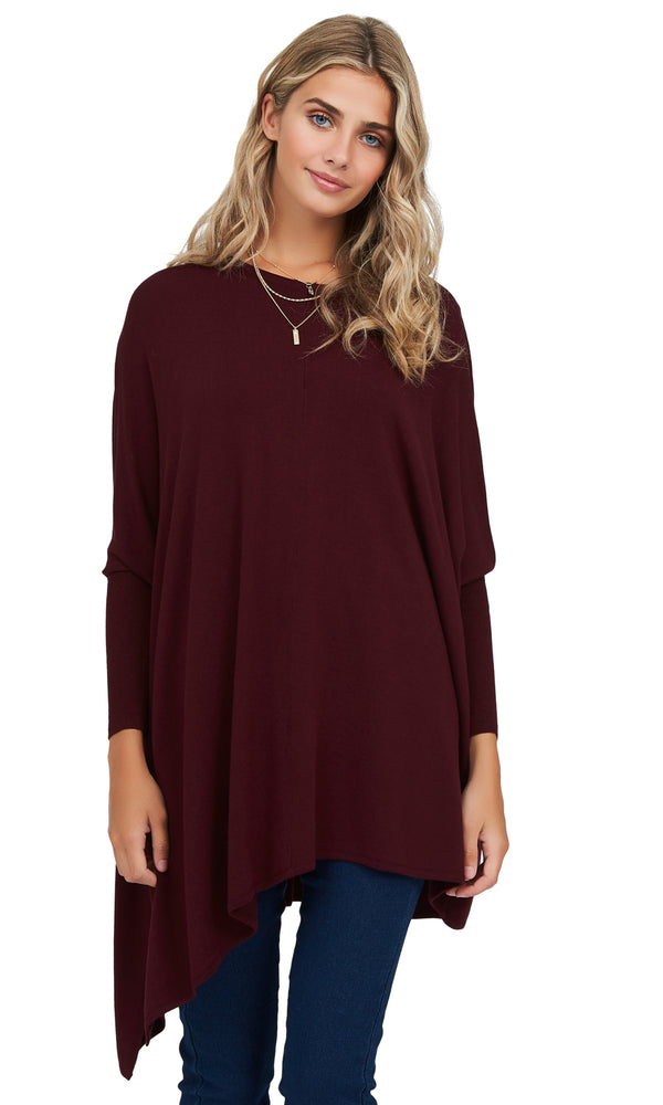 Long Sleeves Asymmetrical Knit Top