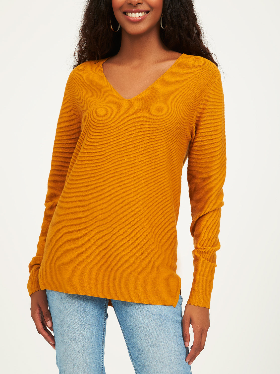 V-Neck Textured Sweater