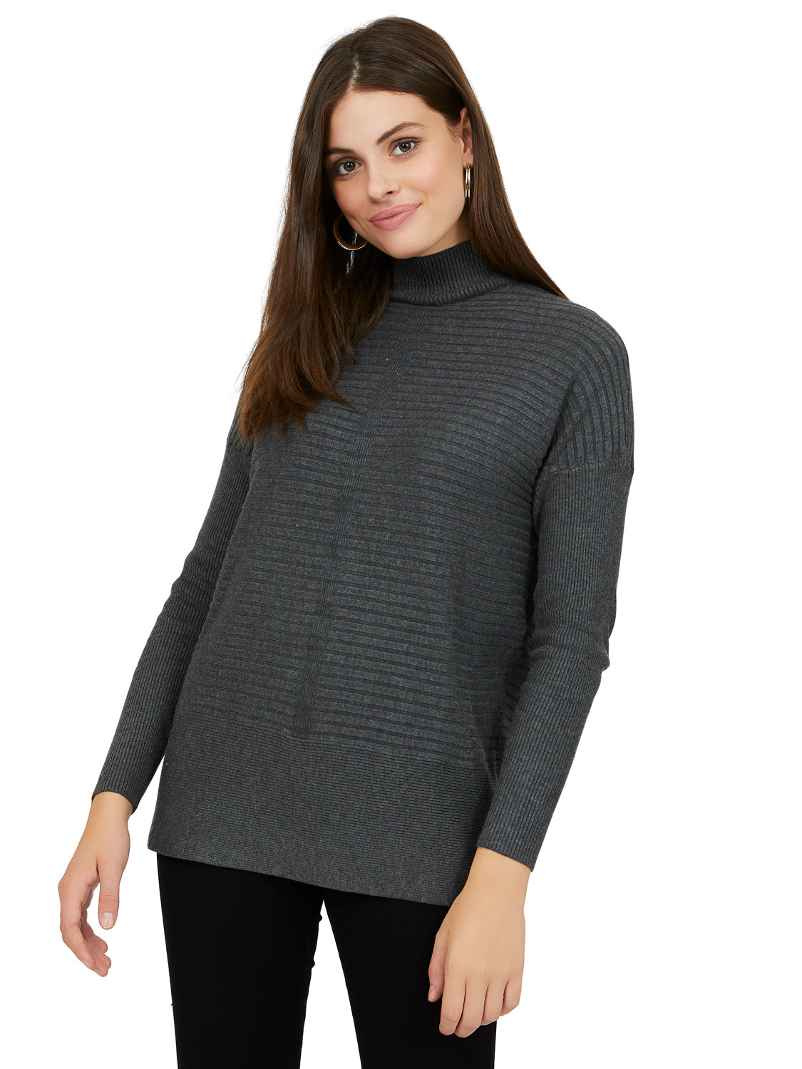 Long Sleeve Multi Rib Knit Tunic
