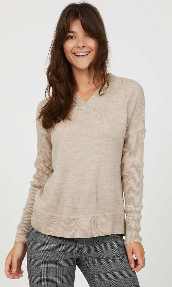Boxy V-Neck Sweater