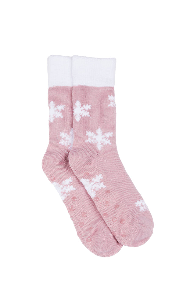Cozy Snowflake Knit Socks