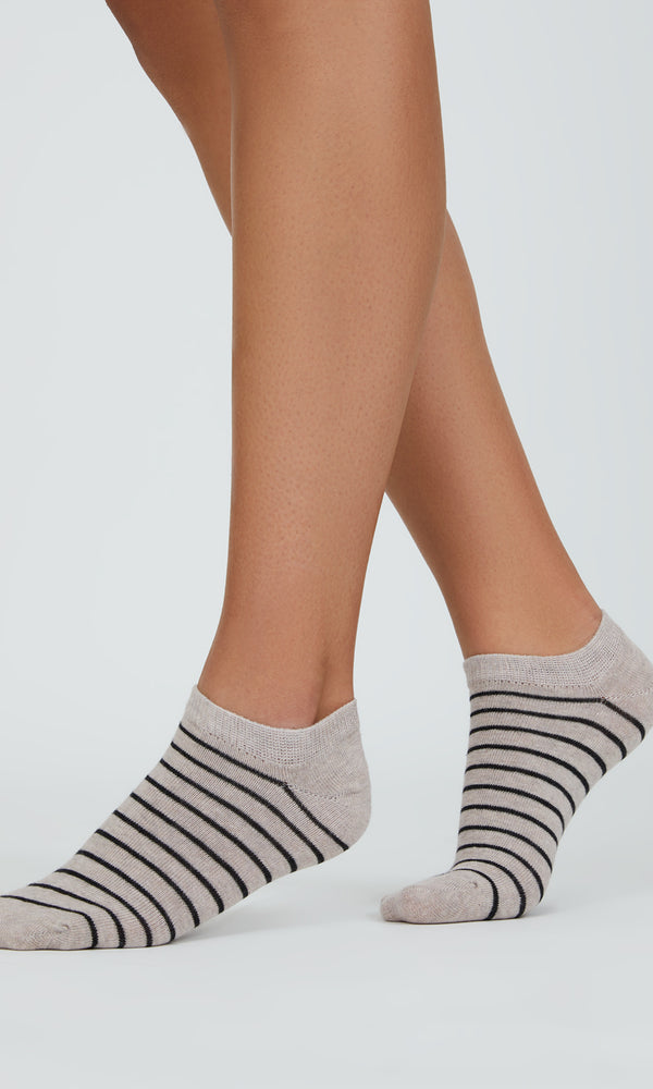 6-Pack Striped Mini Crew Socks