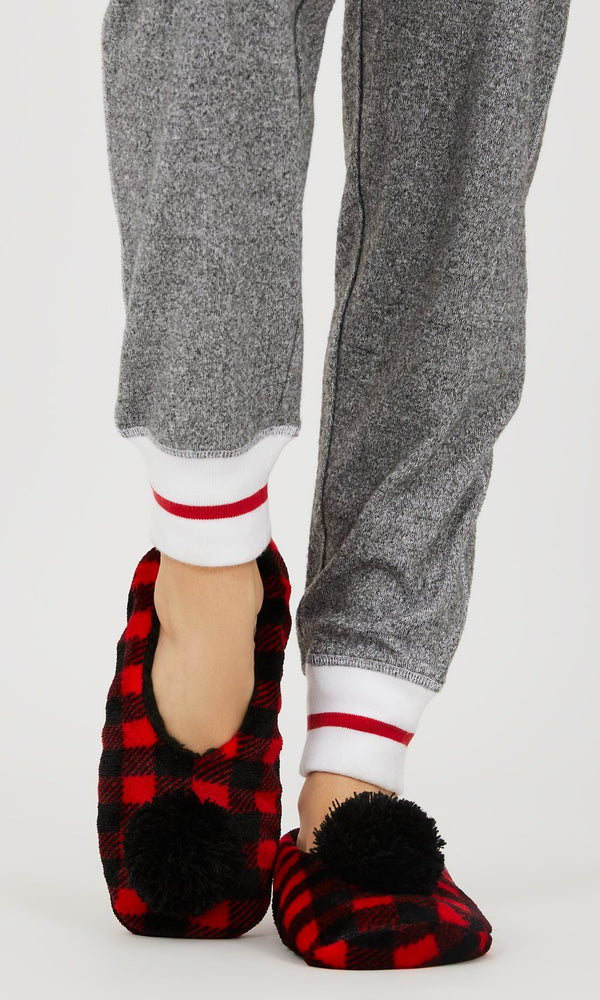 Buffalo Check Ballerina Slippers