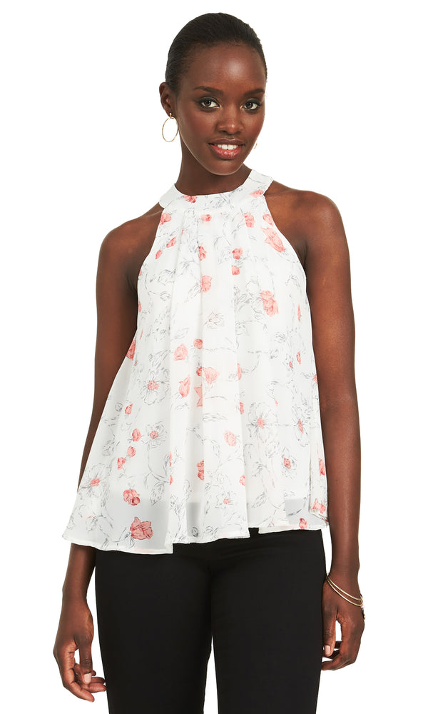 Printed Chiffon Swing Top
