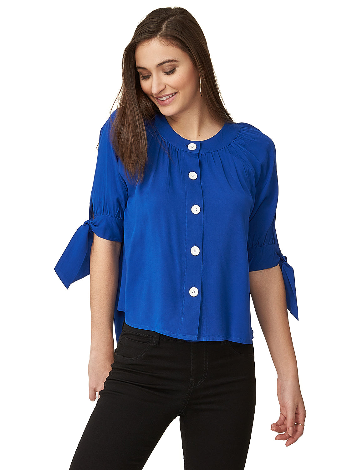 Buttoned Woven Blouse