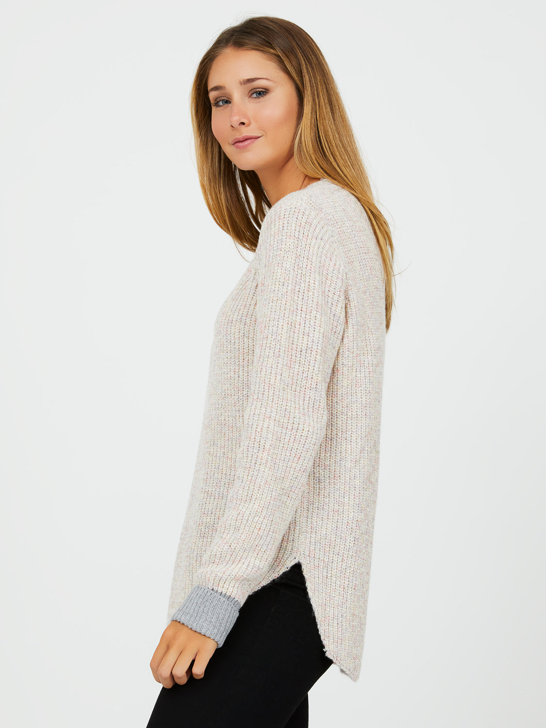 Long Sleeve Rib Knit Sweater