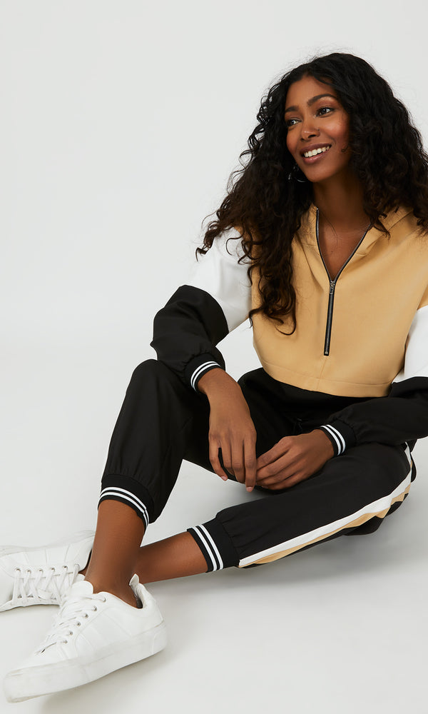 Colour Block Athletic Hoodie