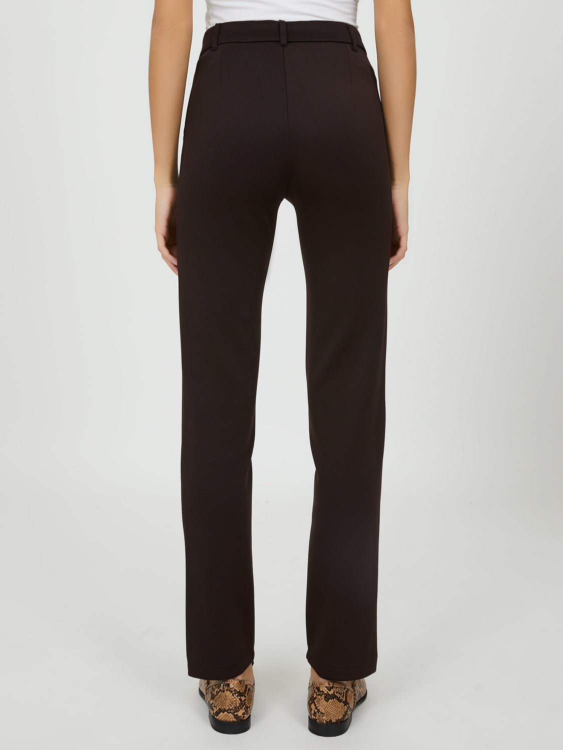 One-Button Closure Skinny Leg Pants
