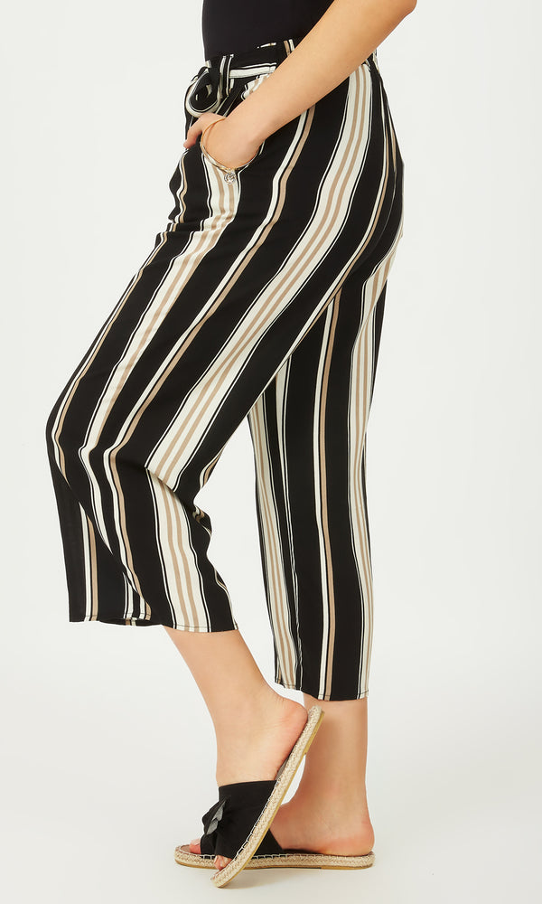 Printed Pull-On Gaucho Pants