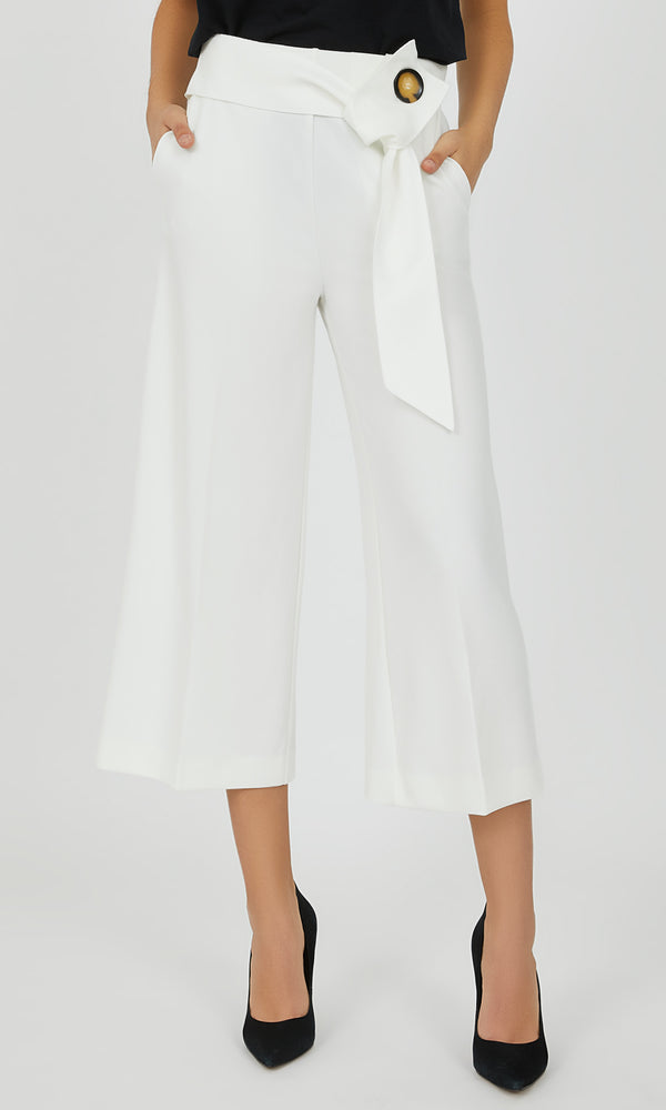 Cropped Wide-Leg Gaucho Pant