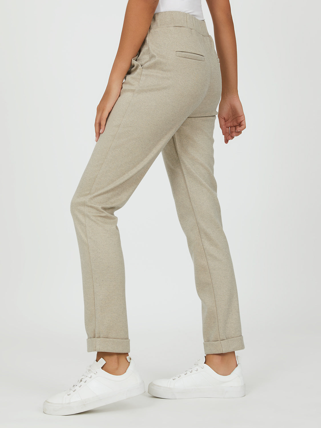 Mélange Brushed Cropped Pants