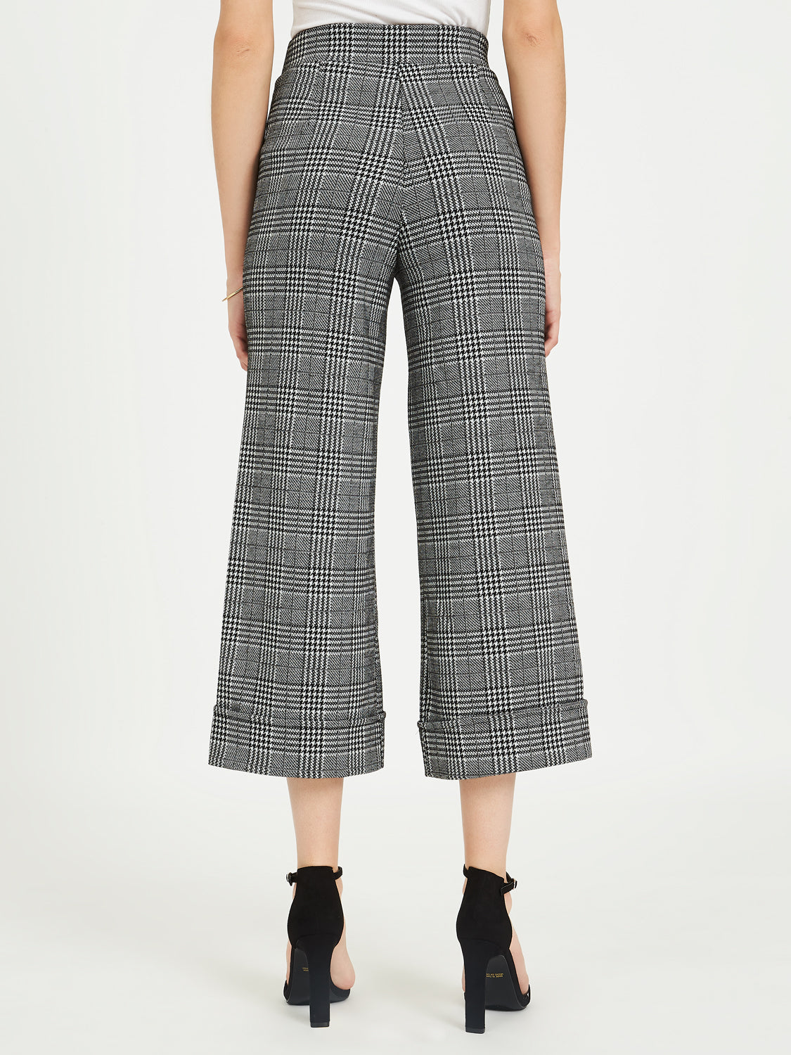 Wide-Leg Jacquard Pants