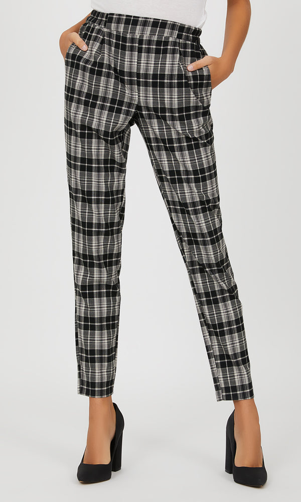 Pull-On Plaid Pant