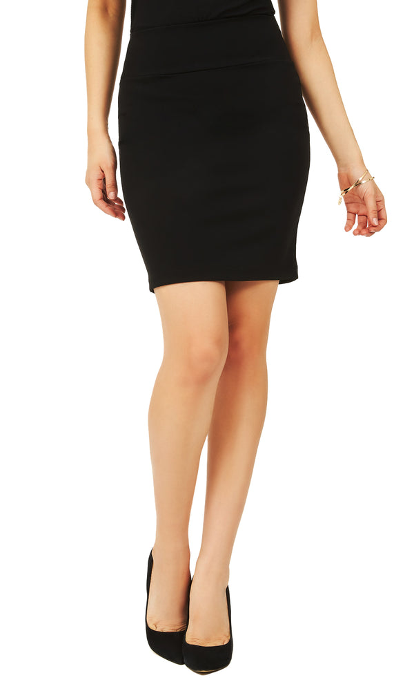 Crepe Pull-On Skirt