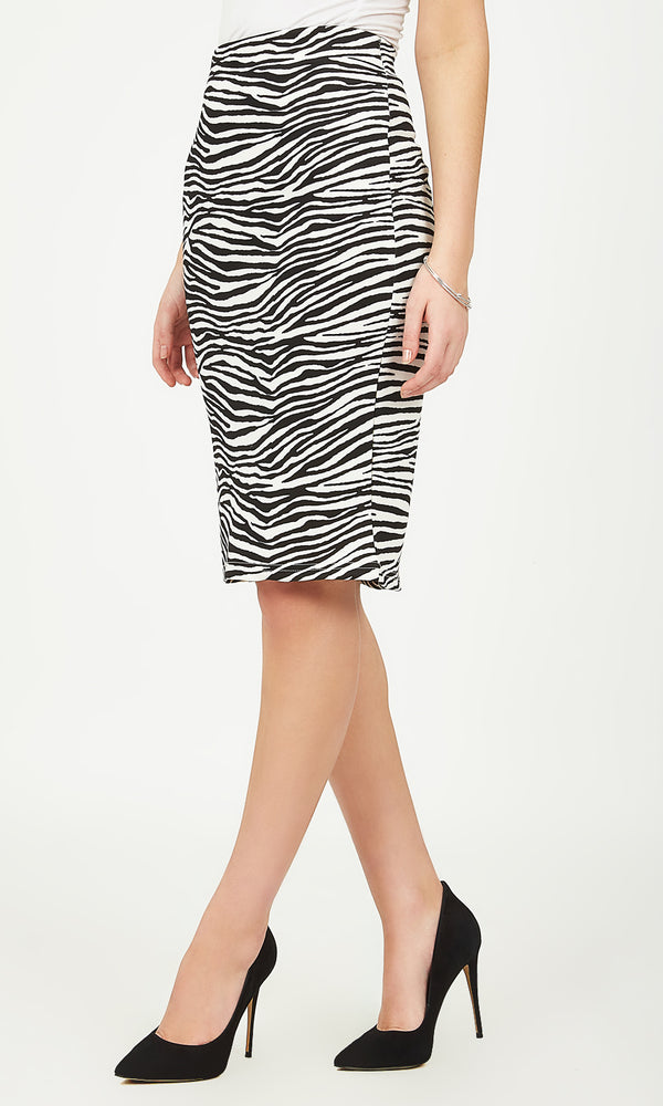 Diamond Print Pull-On Skirt