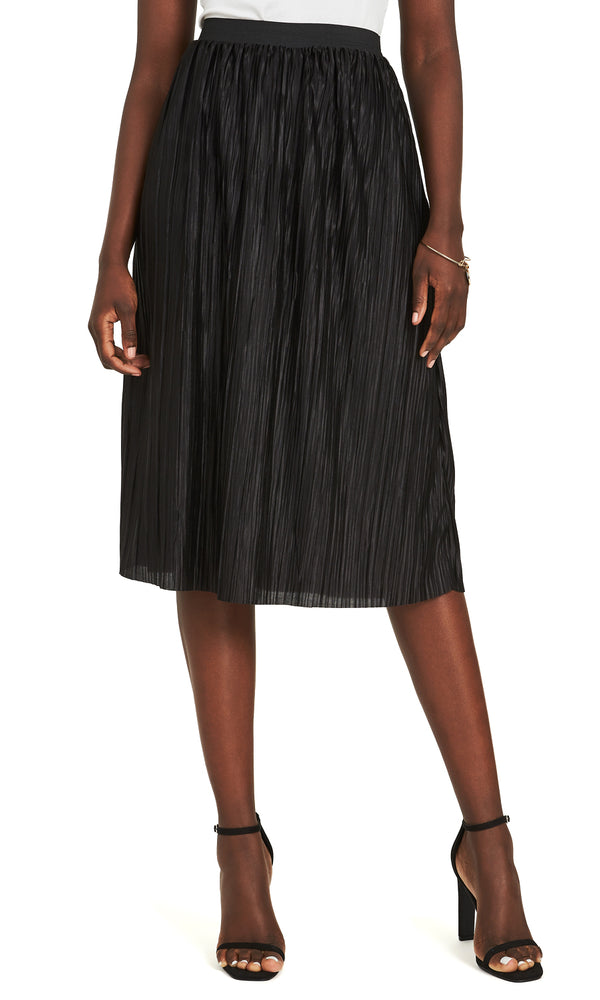 Midi Pleats Skirt With Elastic Waistband