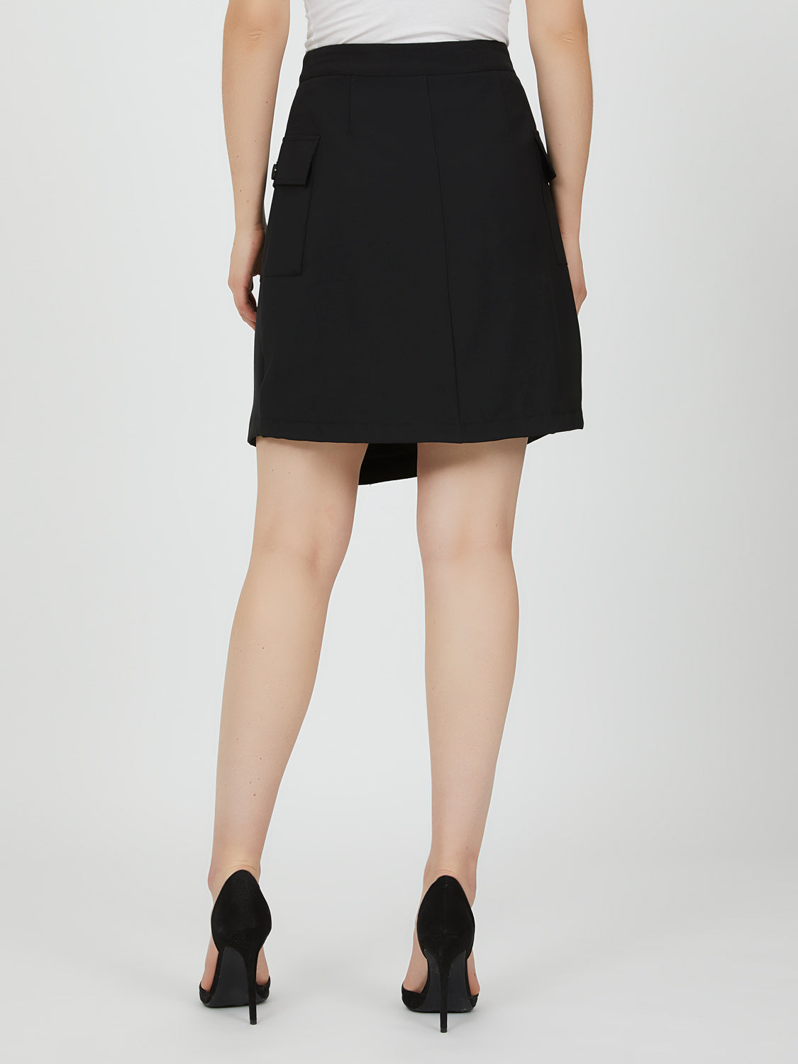Cargo Pocket Utility Wrap Skirt