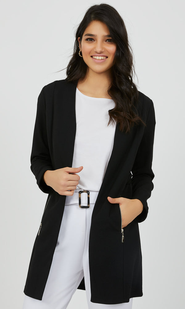 Relaxed Fit Blazer Tunic