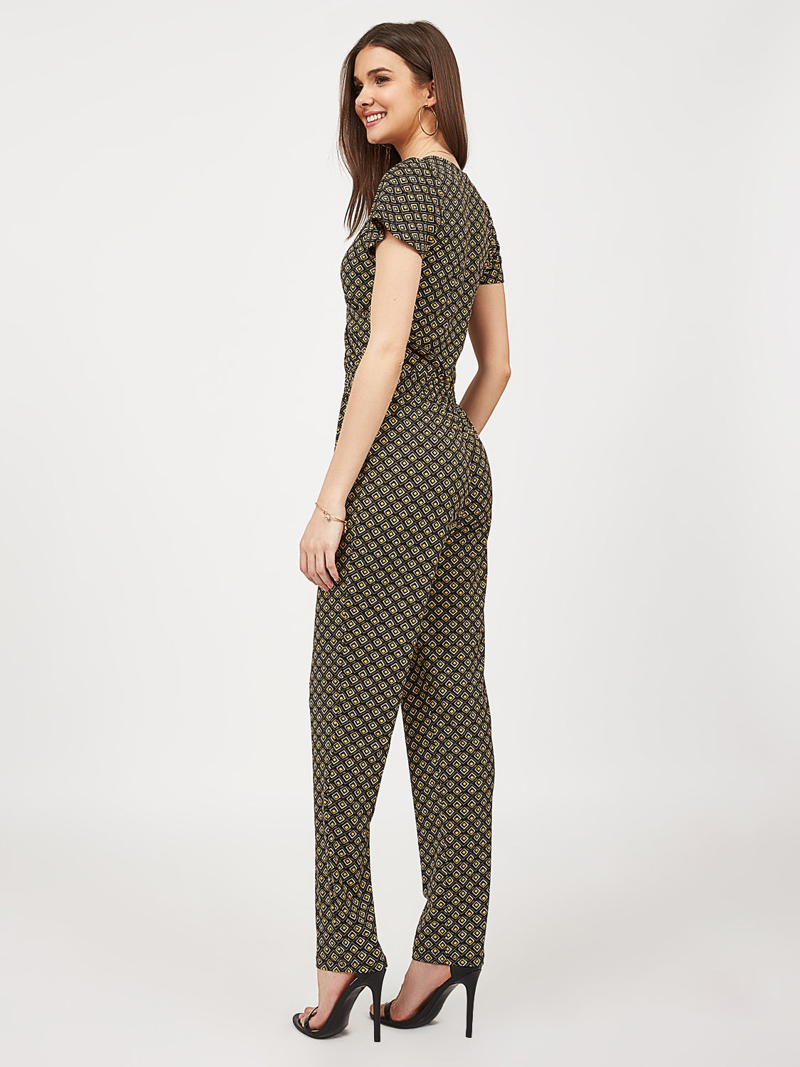 Crossover Crepe Knit Jumpsuit