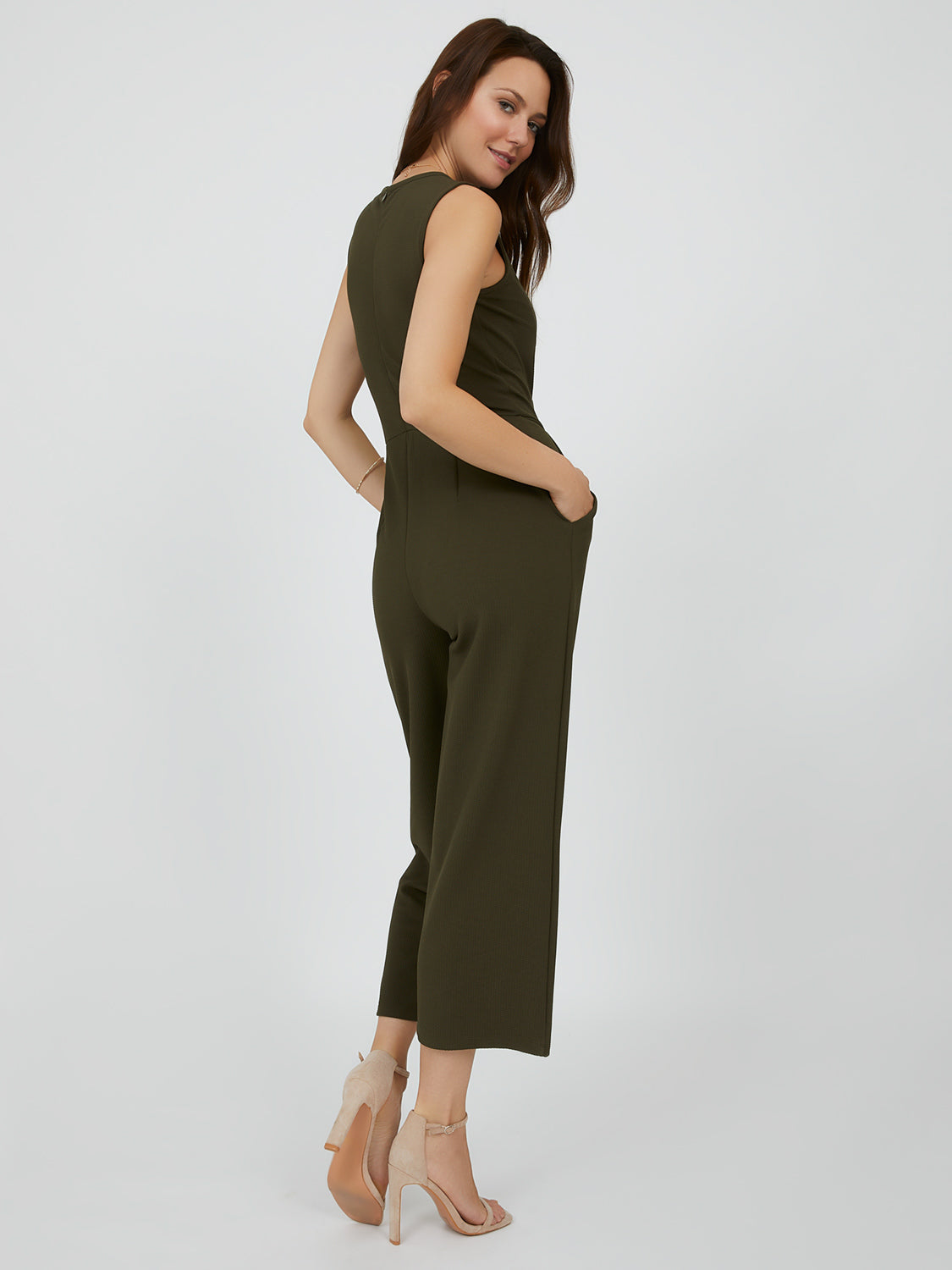 Sleeveless Textured Knit Jumpsuit