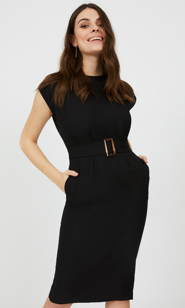 Midi Crepe Sheath Dress
