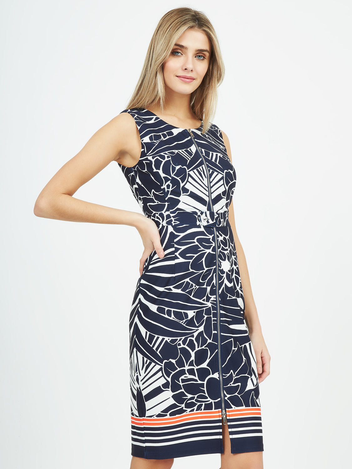 Printed Zip Dress