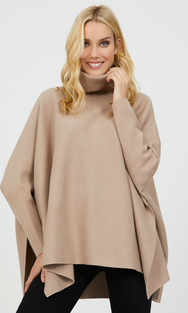 Heavy Sweater Knit Poncho