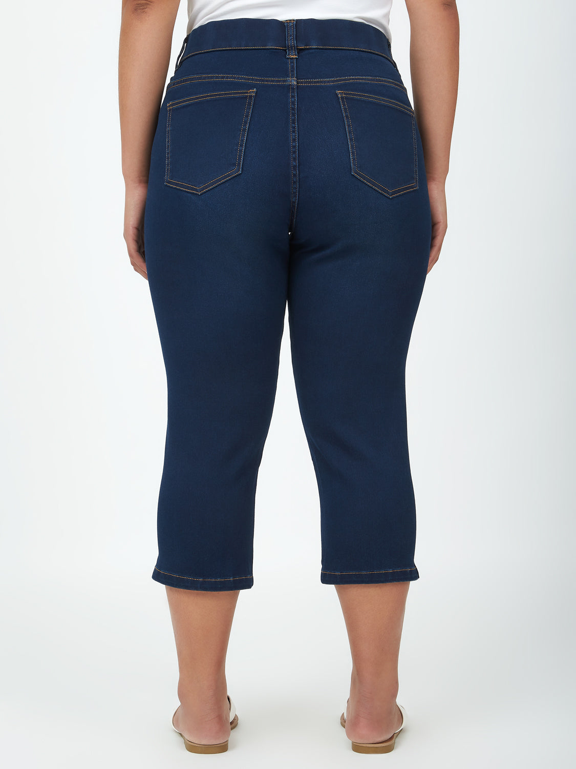 Plus Size Denim Capri Pants