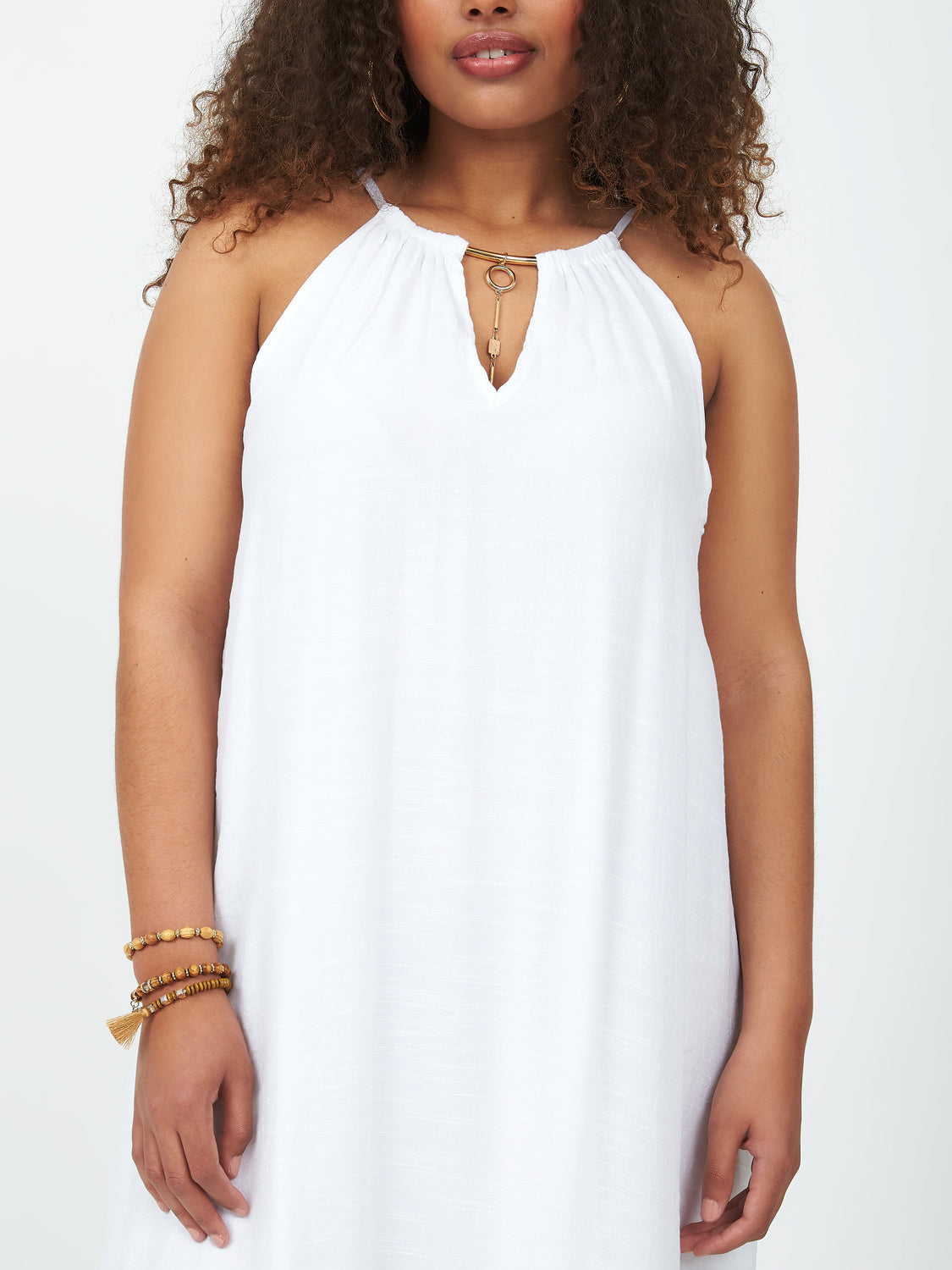 Plus Size Sleeveless High-Low Midi Dress