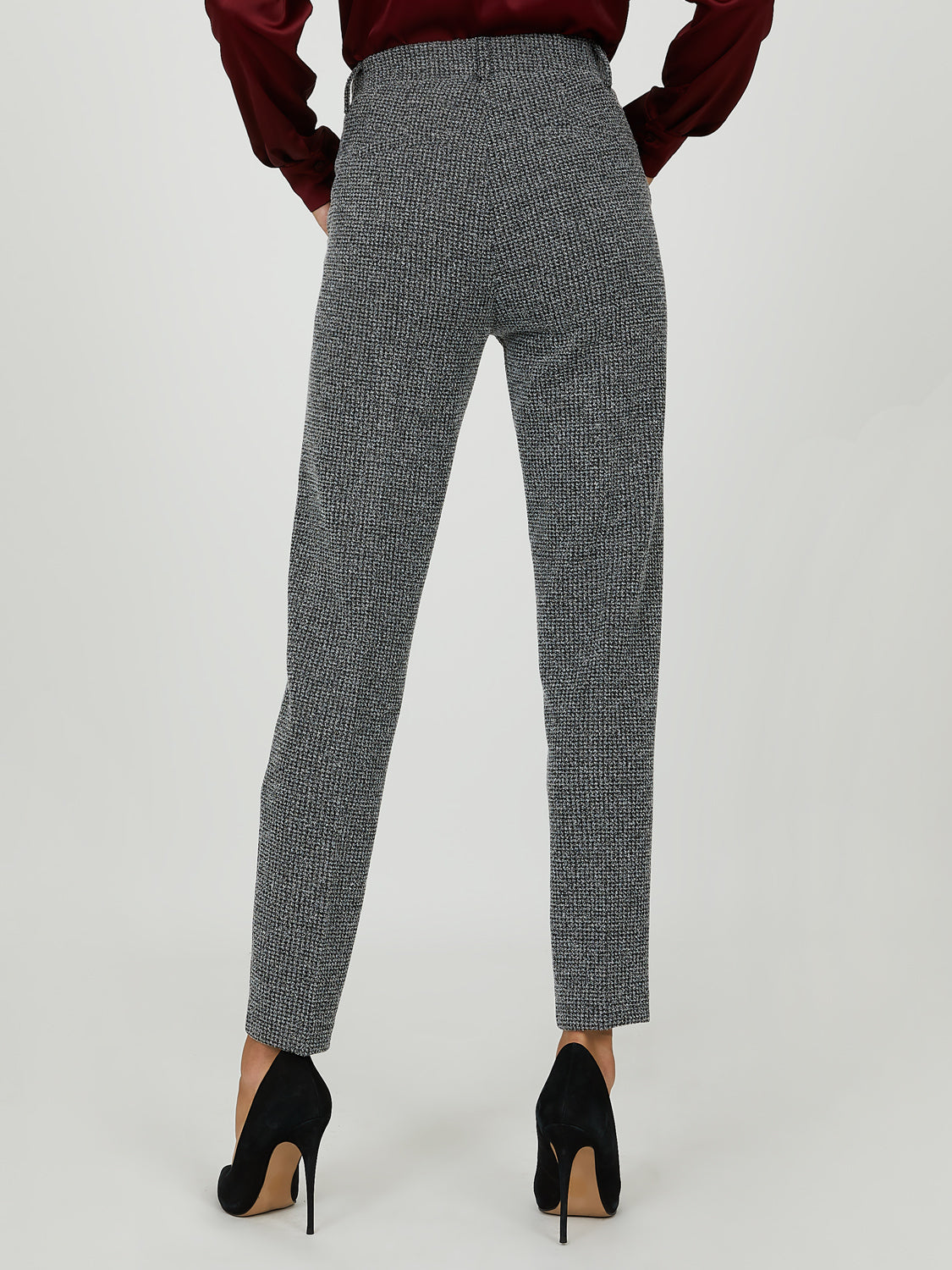 Houndstooth Knit Dress Pant