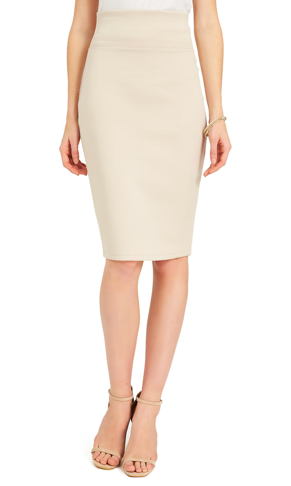 Midi Pull-On Pencil Skirt