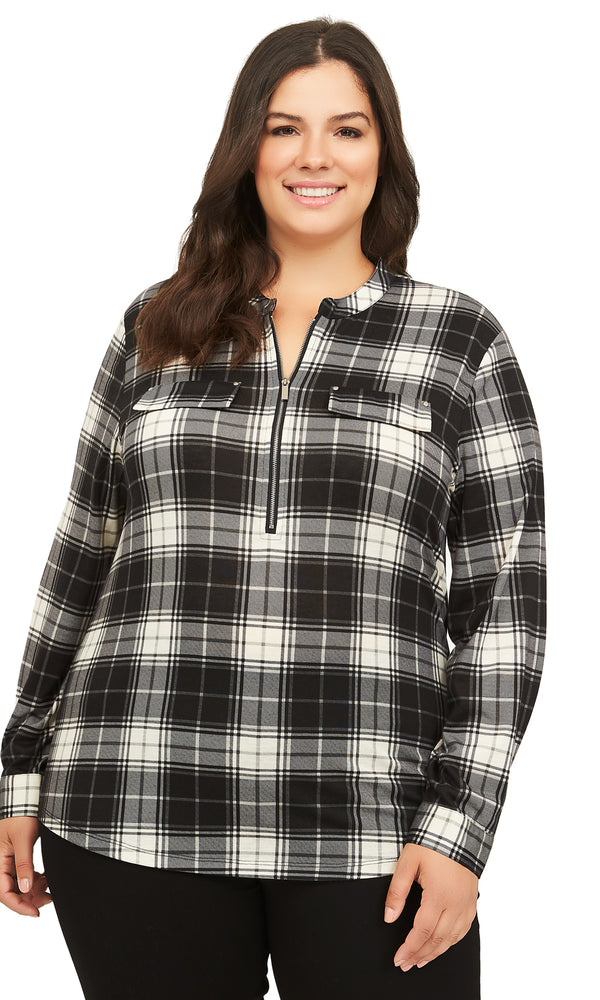 Plus Size Button-Down Shirt