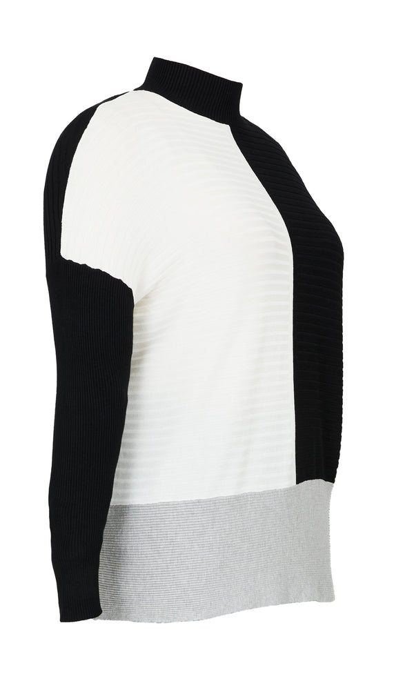 Plus Size Multi-Rib Knit Sweater Tunic