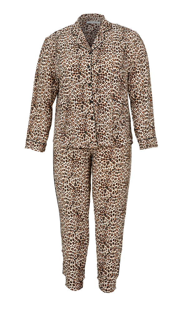 Plus Size 2-Piece Animal Print Pyjama Set