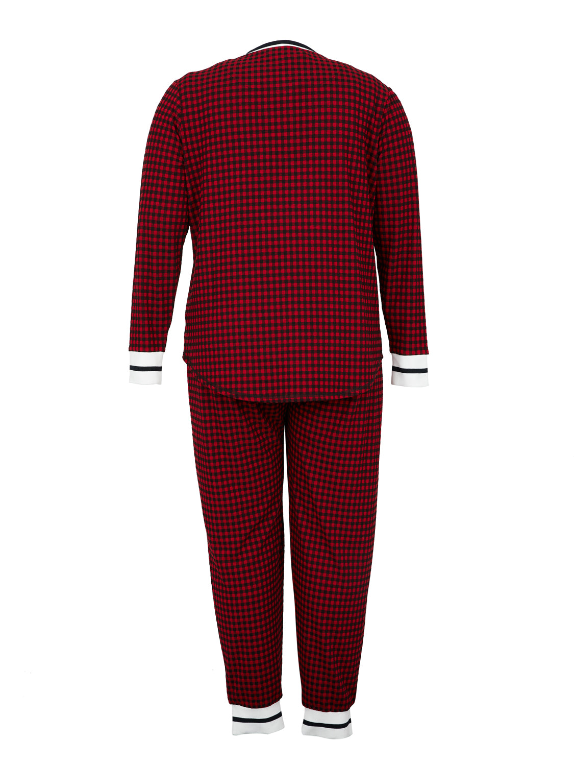 Plus Size 2-Piece Mini Buffalo Check Pyjama Set
