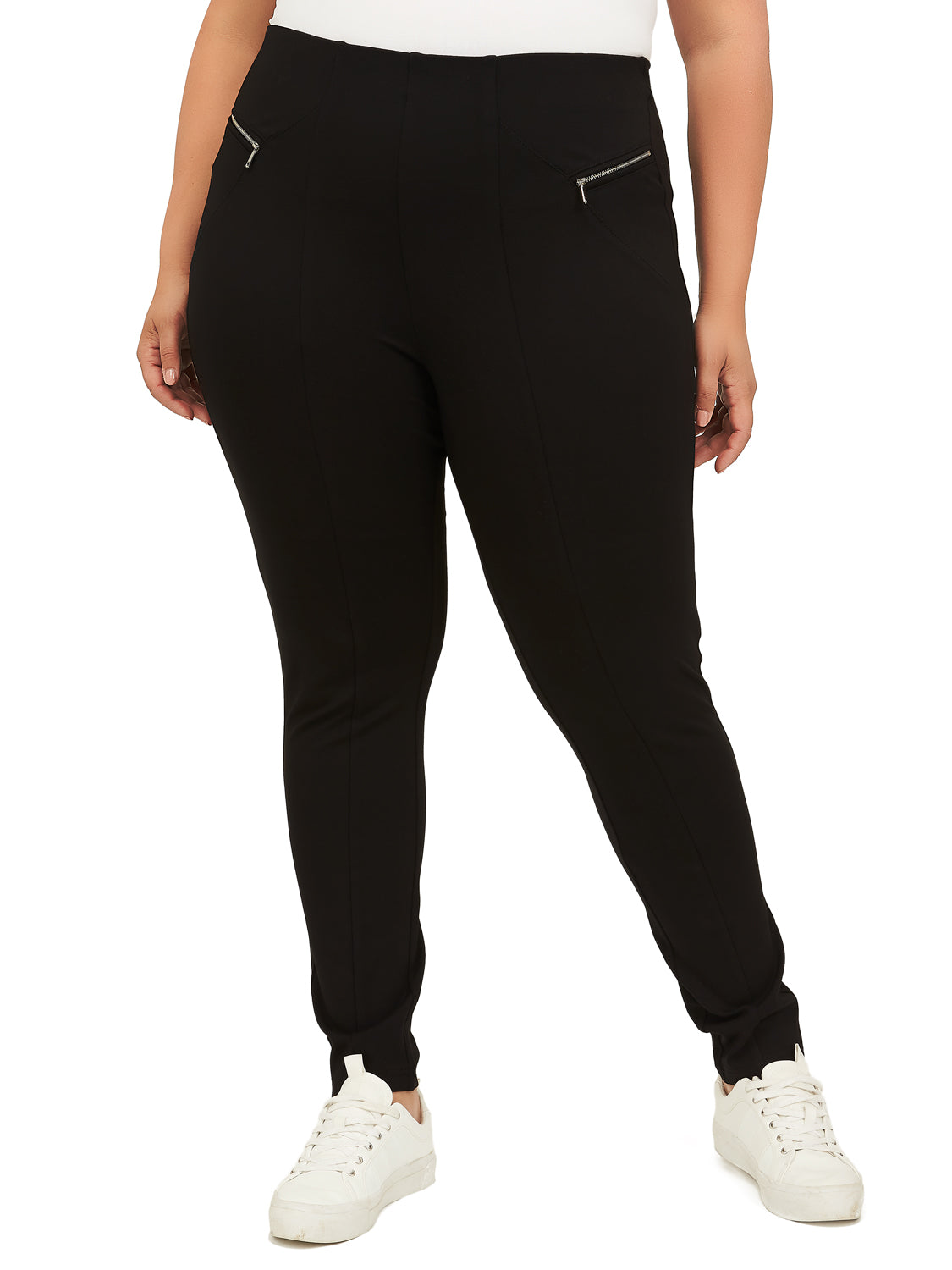 Plus Size Skinny Knit Pants